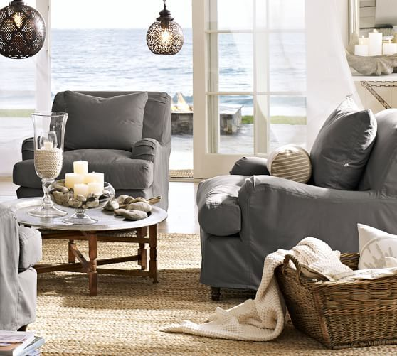 Grey Slipcovers Pottery Barn Carlisle