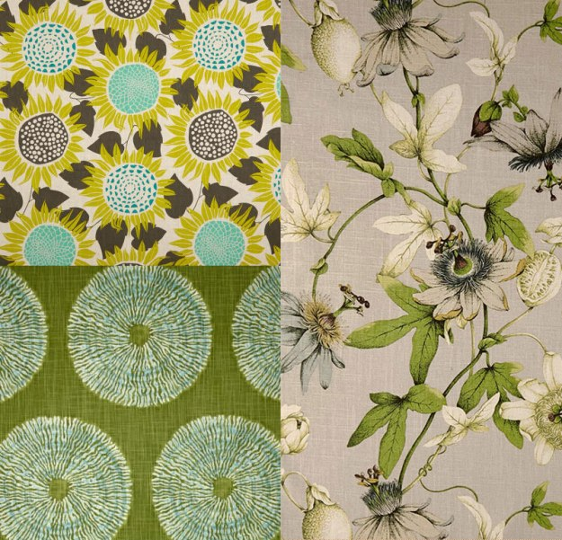 Slipcover Fabric Prints Foliage Green