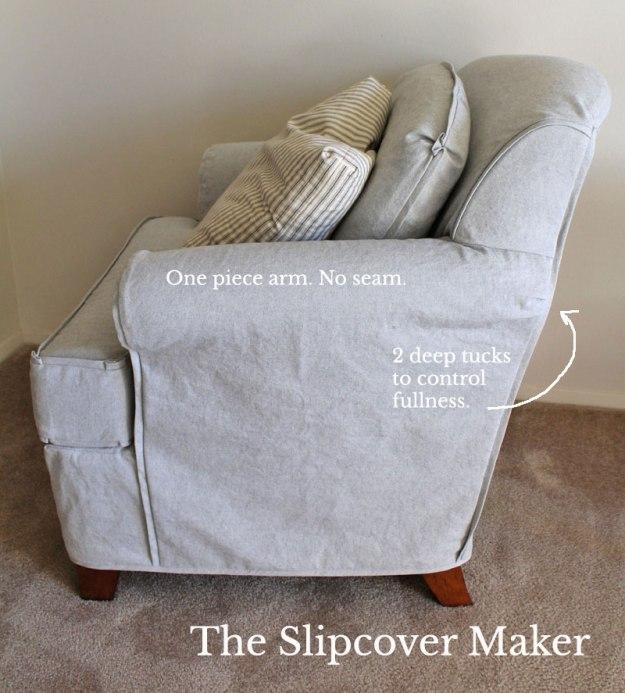 Chair Slipcover Arm Detail
