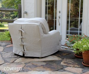 Hemp Chair Slipcover by Covered