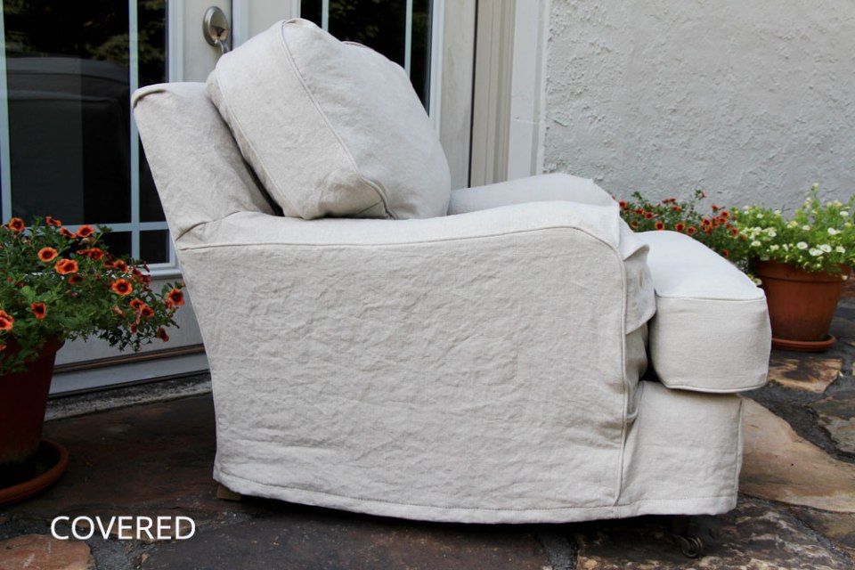 Covered & Stitched Hemp Slipcover