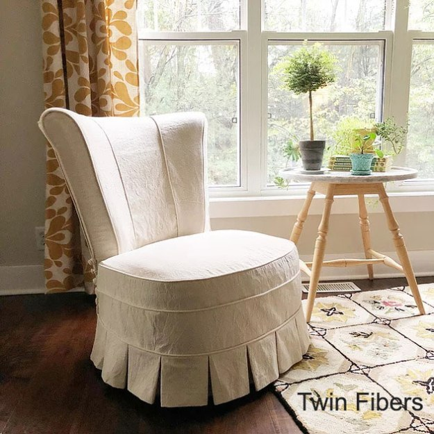 Twin Fibers Slipper Chair Slipcover