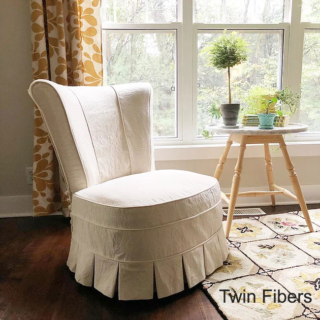 Twin Fibers Slipper Chair Slipcover