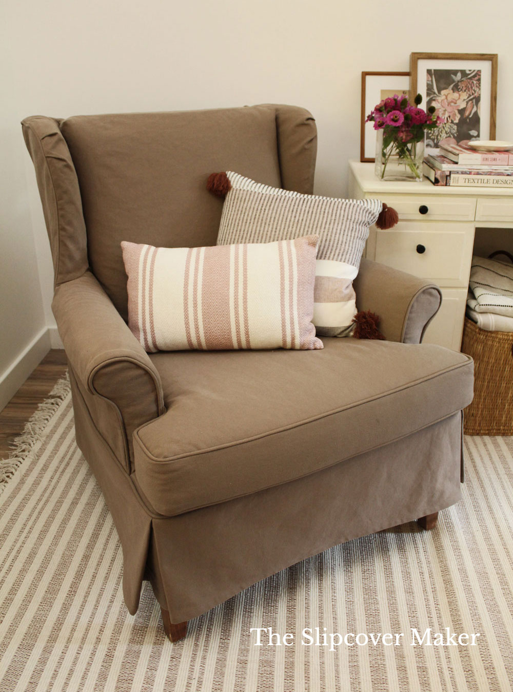 My Brown Slipcover Experiment
