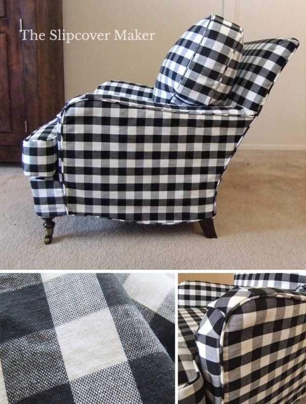 Black White Buffalo Check Slipcover