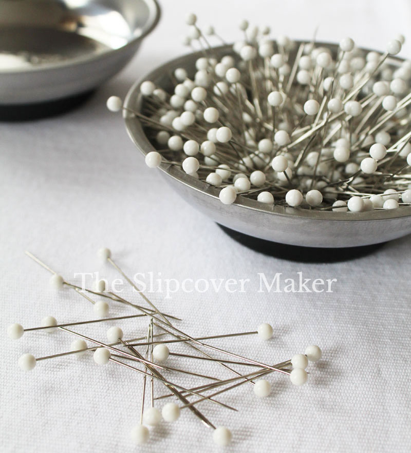 Pins for Slipcover Making