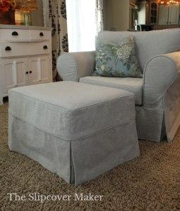 Grey Canvas Armchair Slipcover
