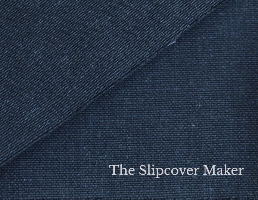 Slipcover Cotton-Poly Canvas Indigo