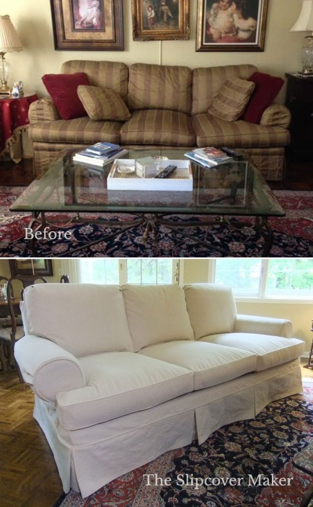 Classic Sofa Natural Denim Slipcover