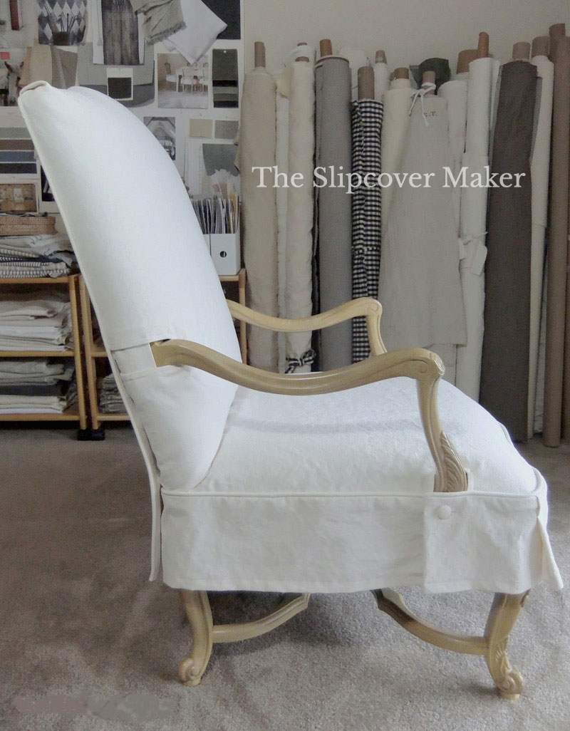 French Dining Chair Canvas Slipcover