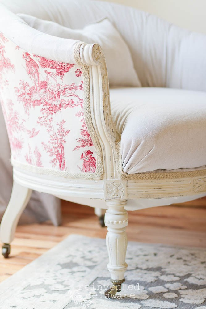 Exposed Painted Wood Chair Detail