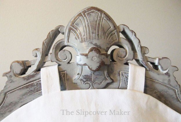 Ornate Chair with New Paint and Slipcover