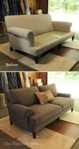 Canvas Slipcover for Lee Industries Sofa