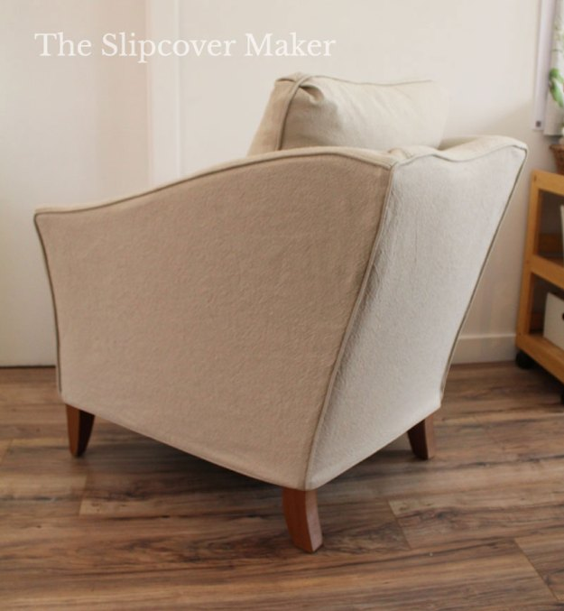 Fitted Slipcover for Sloped Arm Chair