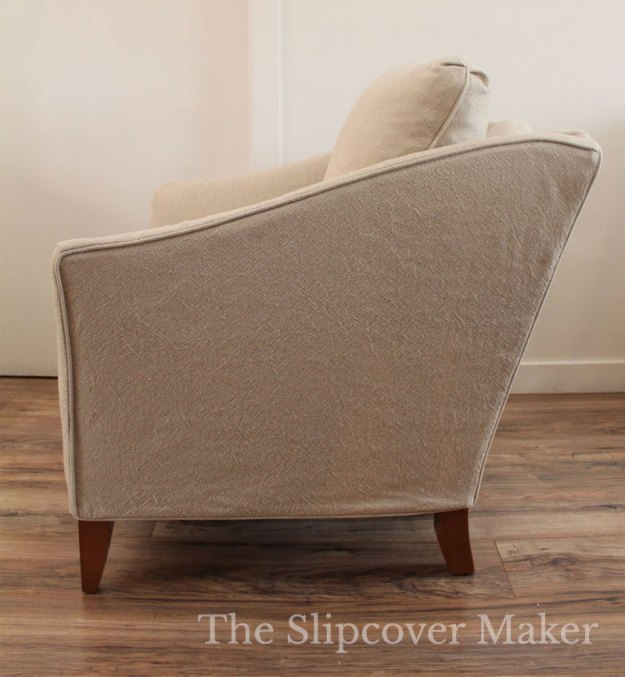 Sloped Arm Chair with Slipcover