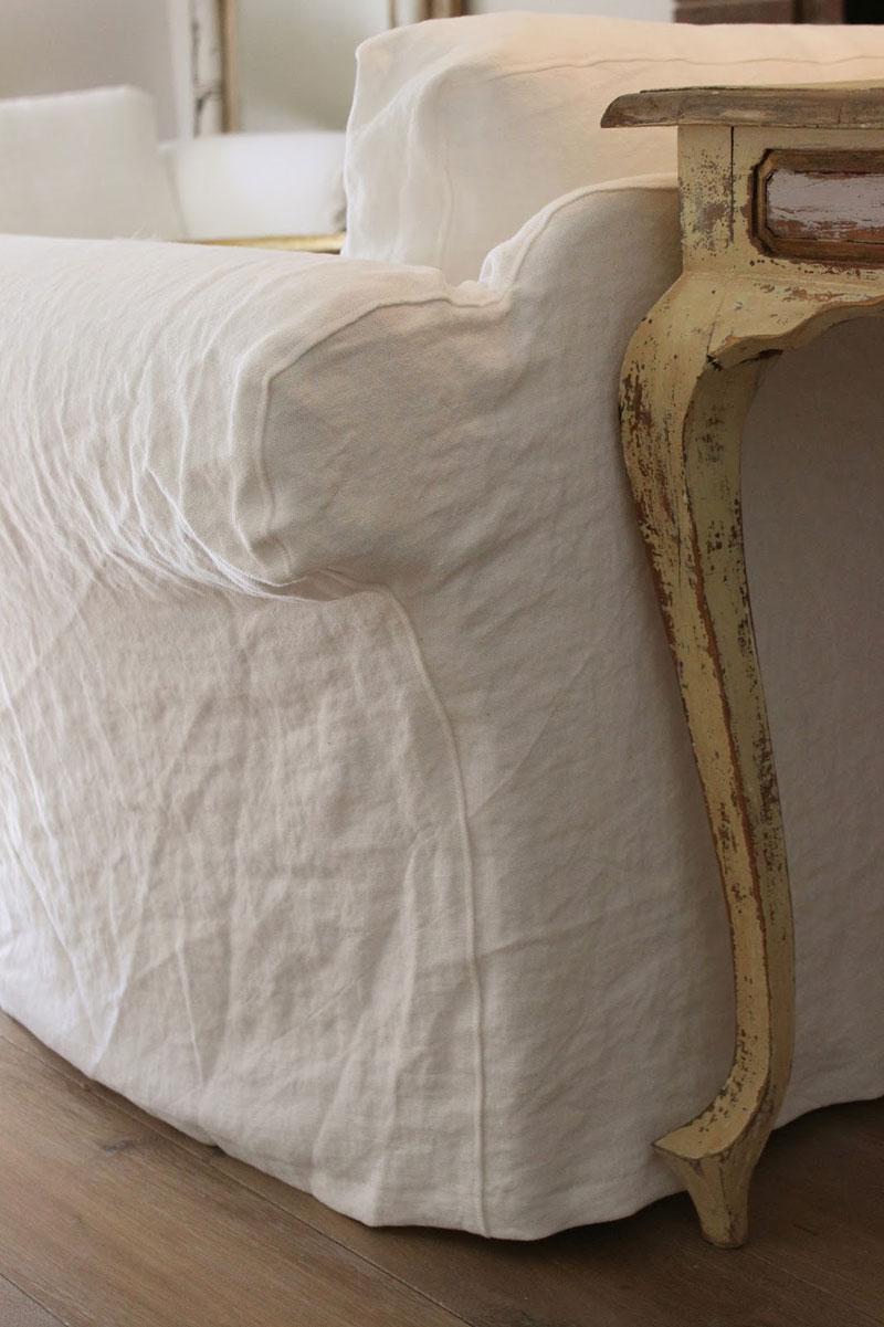 Slipcovers by Shelley Linen Sofa