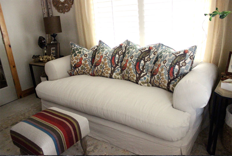 Canvas Drop Cloth Slipcover by Shelley