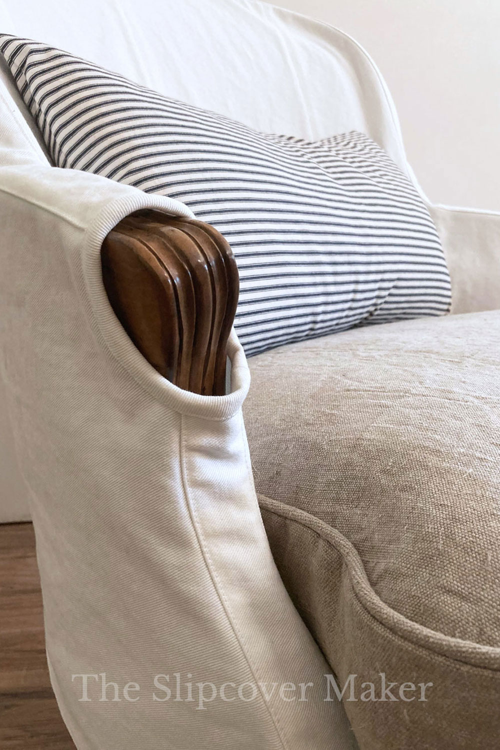 Designing a Budget-Friendly Slipcover for a Bargain Bergere Chair