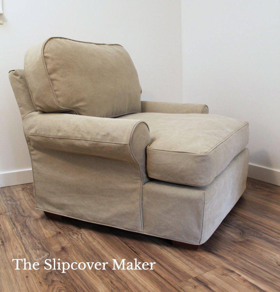 Canvas Chair Slipcover Dart Detail