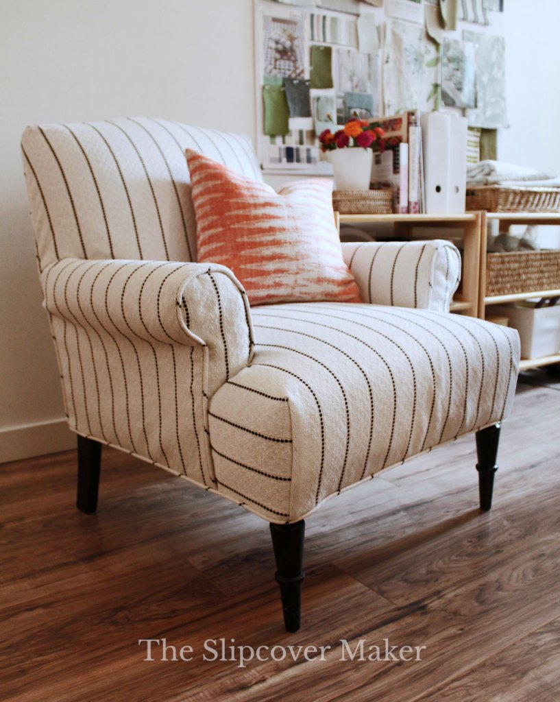 Chair Slipcover with Curved Dart