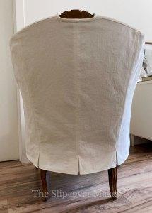 Grande Duke French Chair Slipcover Back