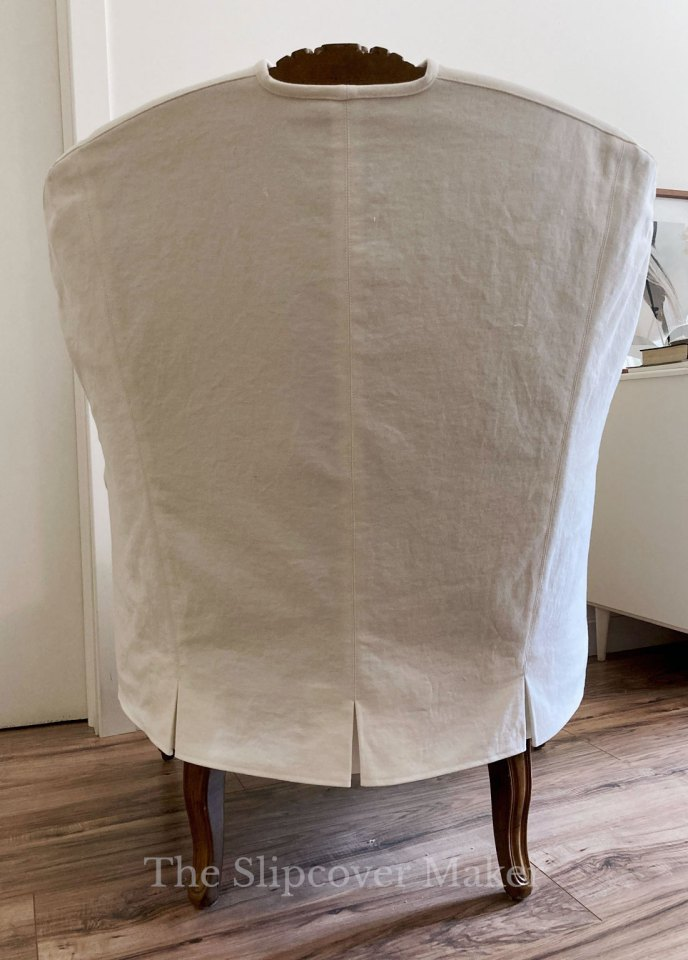 Grande Duke French Chair Slipcover Back