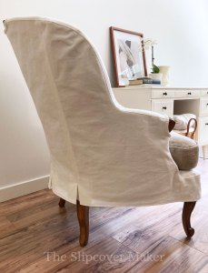 Grande Duke French Chair Slipcover Side