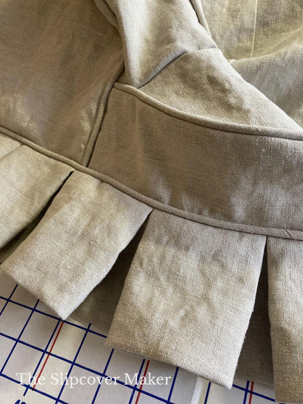Box Pleat Hemp Slipcover Skirt