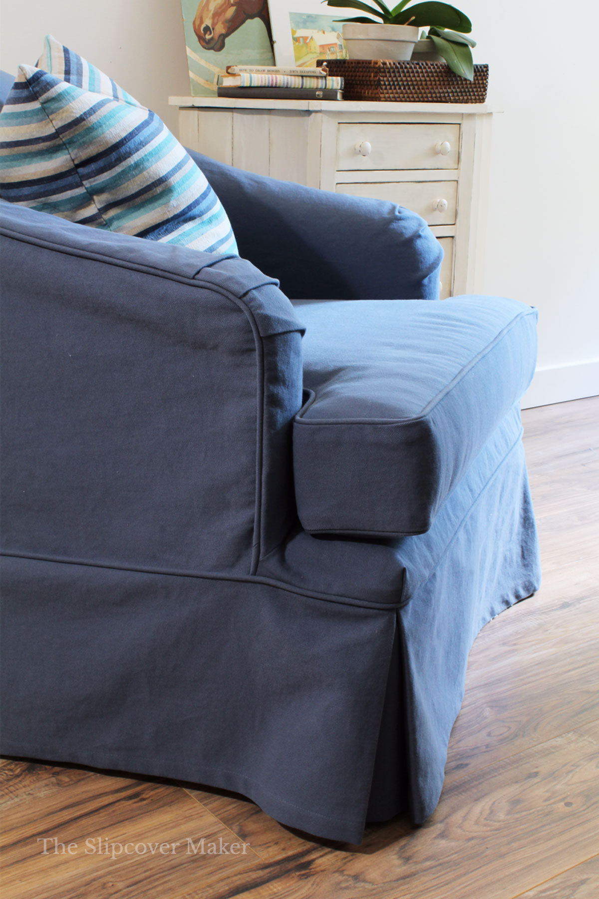Slipcover Pin Fit Tutorial Part 4: Skirt & Cushion Cover