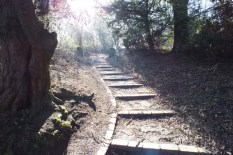 The path up from Cumbernauld house