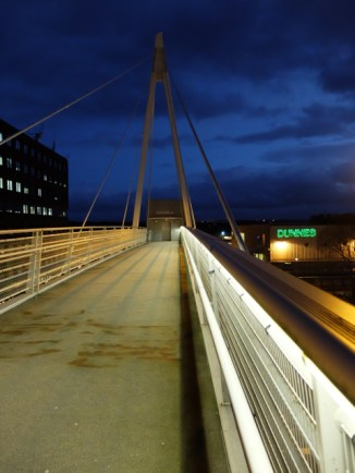 the bridge across central way