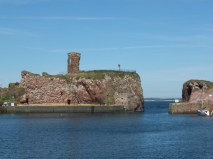 On the other side of Scotland not much is left of Dunbar castle