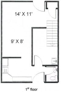 Colonies 2 Bedroom Townhouse Floor 1