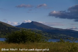Looking across Llyn Tegid to Aran Fawddwy