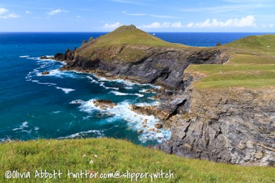 Looking back to Pentire Point