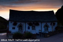 The Harbour Tearoom, Boscastle at night