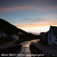 Boscastle Harbour at night