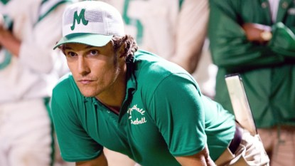"MATTHEW McCONAUGHEY portrays Jack Lengyel, the coach tasked with rebuilding Marshall University's football program after a tragic plane crash in Warner Bros. Pictures' and Legendary Pictures' inspirational drama, ""We Are Marshall,"" distributed by Warner Bros. Pictures. PHOTOGRAPHS TO BE USED SOLELY FOR ADVERTISING, PROMOTION, PUBLICITY OR REVIEWS OF THIS SPECIFIC MOTION PICTURE AND TO REMAIN THE PROPERTY OF THE STUDIO. NOT FOR SALE OR REDISTRIBUTION."