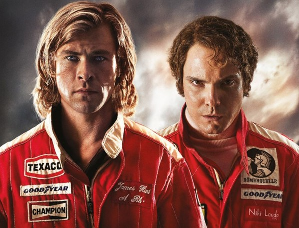 Picture shows: Poster for movie RUSH starring actor Chris Hemsworth as James Hunt and actor Daniel Bruhl as Niki Lauda. 74018 EDITORIAL USE ONLY *** local caption *** 00035954