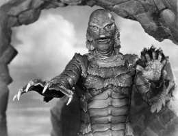 "Handout photo of Ben Chapman in costume for the title character in ""The Creature From the Black Lagoon."" For obit. of Chapman. E-mail from Bob [mailto:kogar@earthlink.net] via writer Dennis McLellan."