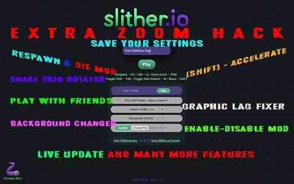 SLITio Mod v2 0 | Slither io Skins, Hacks, Mods, Unblocked