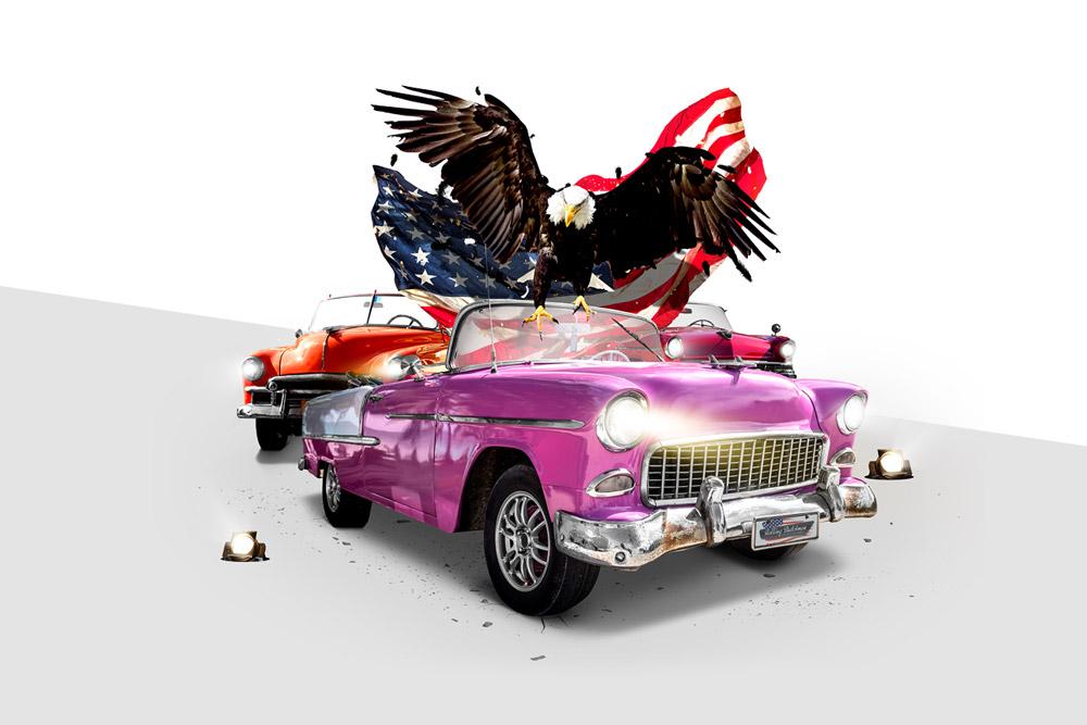 Grafische vormgeving & creatief ontwerp: artwork 'American Classics' event