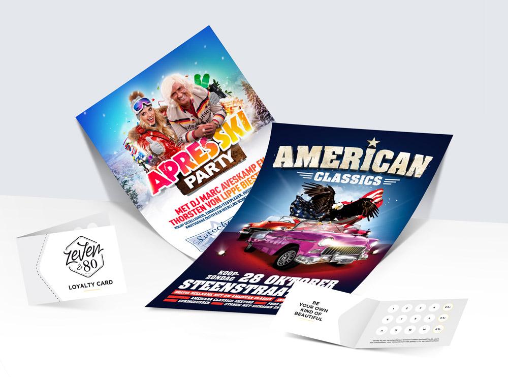 Slize, grafisch vormgever en creatief ontwerper in Oldenzaal. Poster ontwerpen voor Lutscher Alm en American Classics