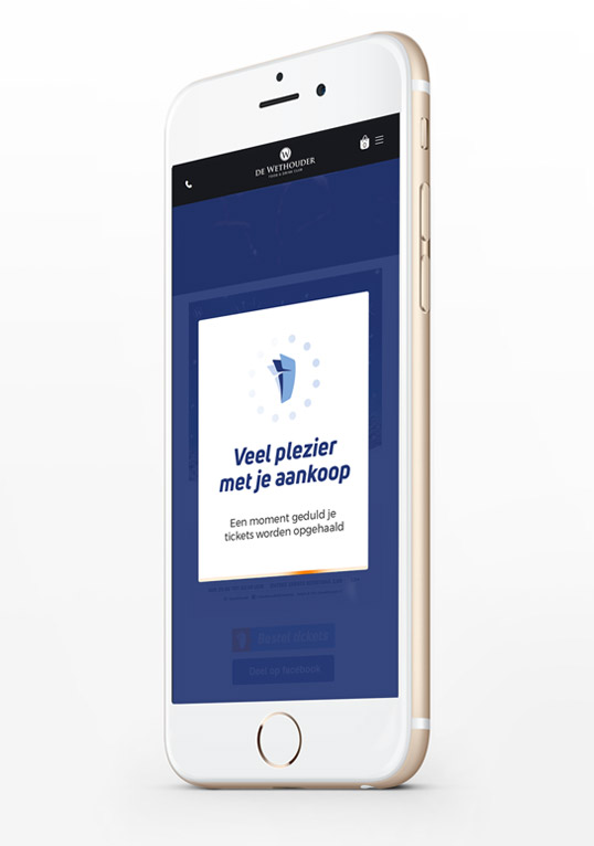 Mobiel website ontwerp - Iphone display ad