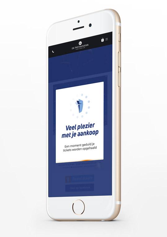 Mobiel website ontwerp - Iphone display ad
