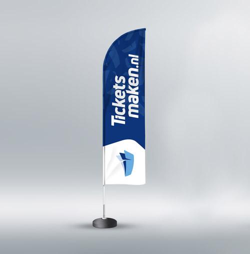 Drukwerk Oldenzaal | Blauwe beachflag / beachvlag