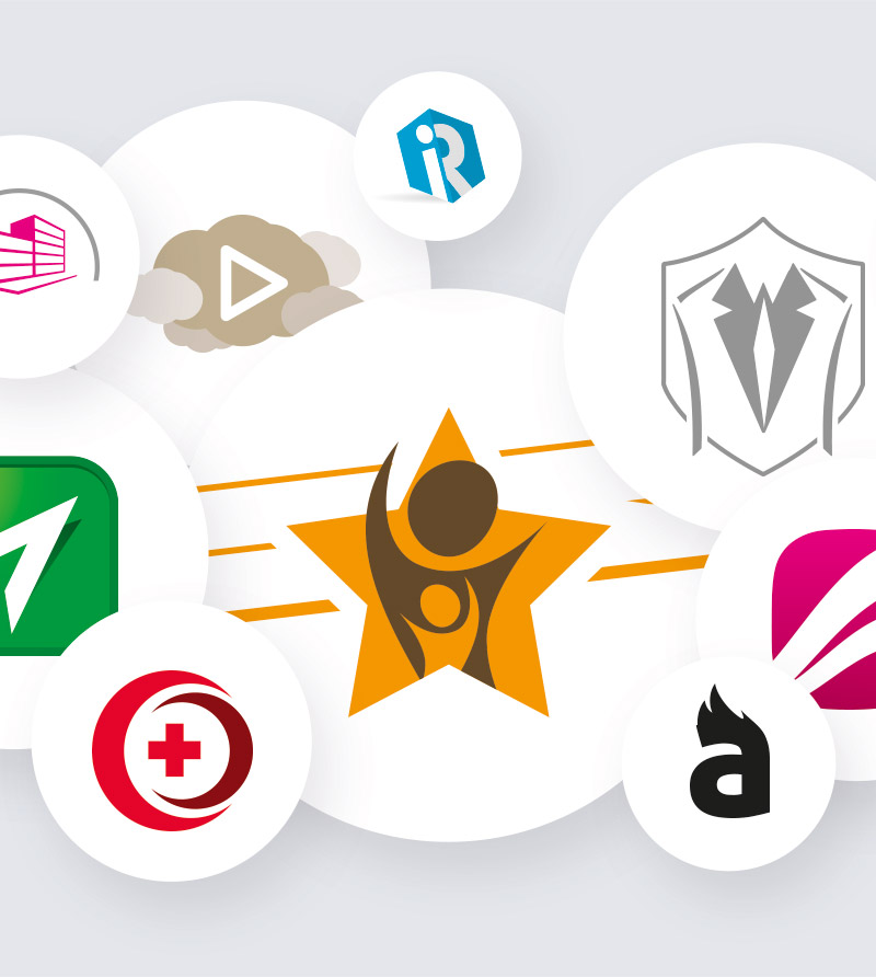 Logo ontwerp - Logo's in cirkels presentatie