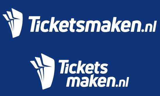 Oldenzaal, Ticketsmaken.nl | Witte logo varianten onder elkaar
