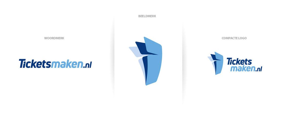 Logo en huisstijl ontwerp, aantal varianten voor logo gebruik op alle platformen
