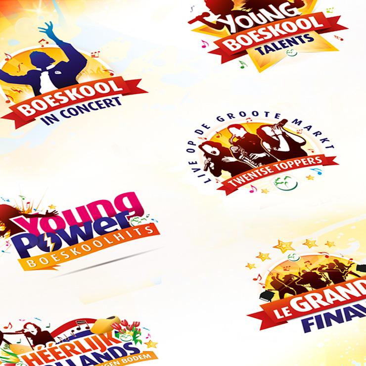 Boeskool is los Oldenzaal - Family logo designs / corporate branding, ontwerp en creatie Slize